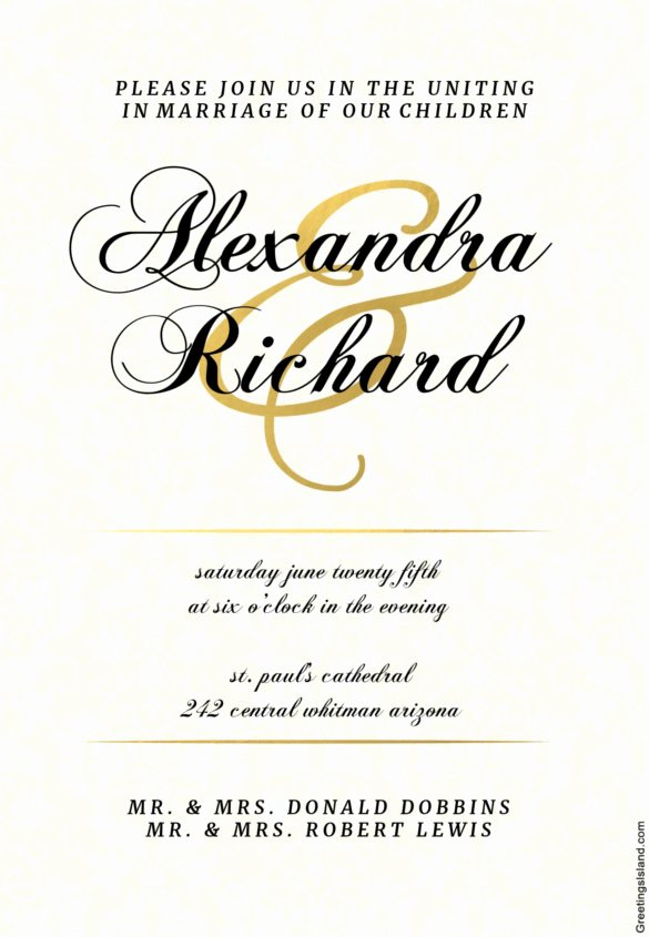 Wedding Invitation Template Word Unique Wedding Invitation Template 71 Free Printable Word Pdf