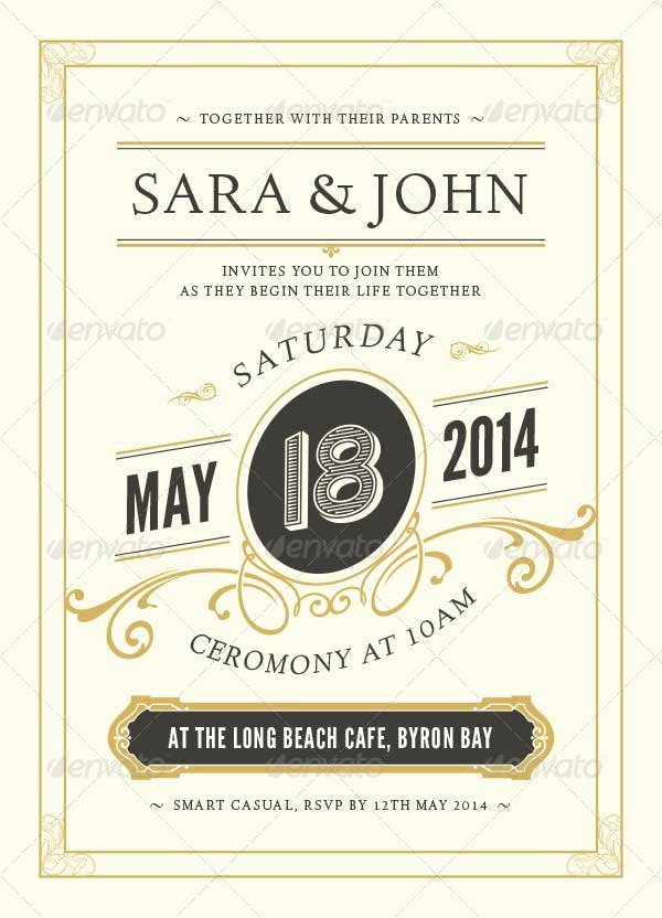 Wedding Invitations Photoshop Template Awesome 72 Best Wedding Invitation Templates Psd Shop Indesign