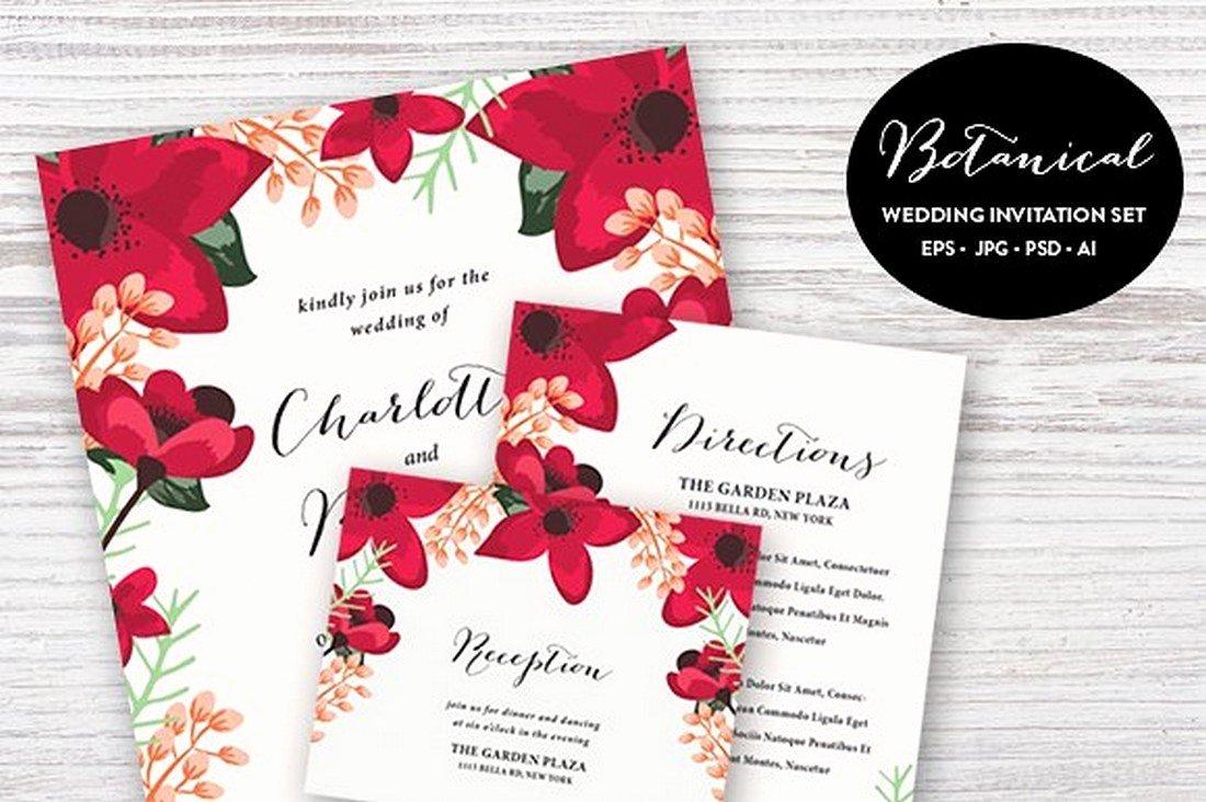 Wedding Invitations Photoshop Template Fresh 90 Gorgeous Wedding Invitation Templates