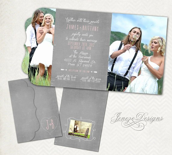 Wedding Invitations Photoshop Template Lovely Wedding Invitation Template Graphers and Shop
