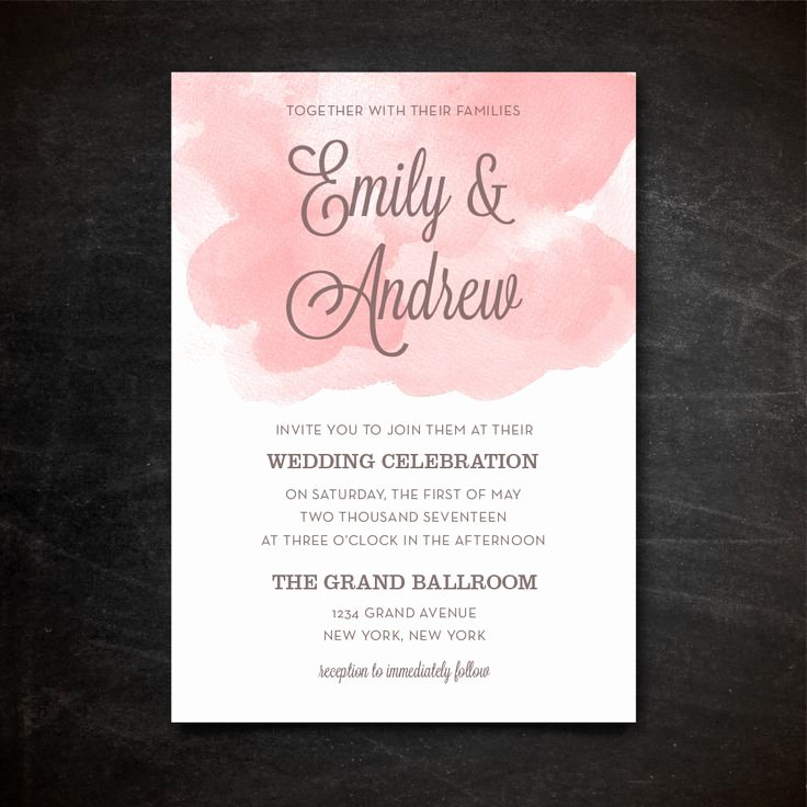 Wedding Invitations Photoshop Template New Wedding Invitation Template Printable Wedding Invitation