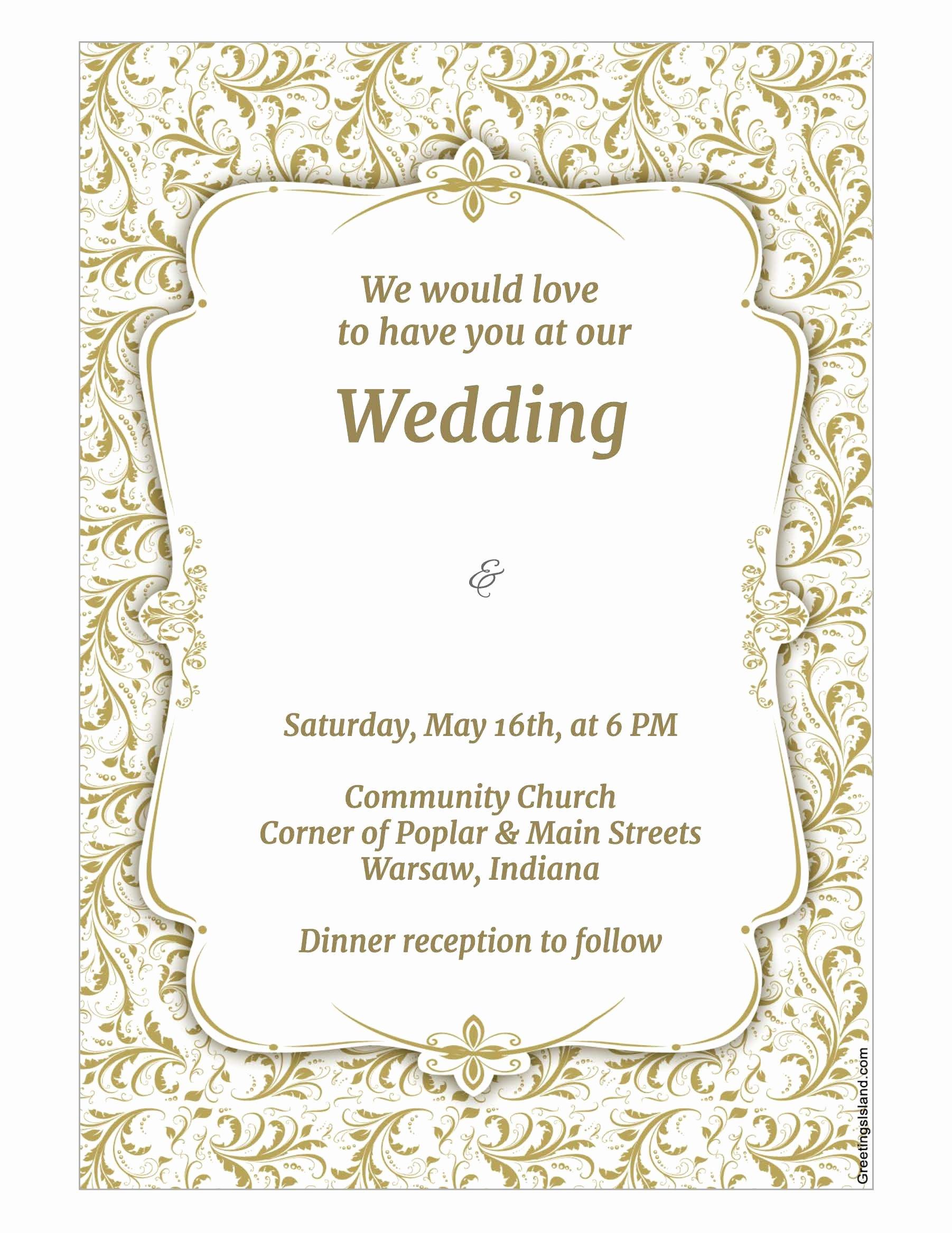 Wedding Invitations Photoshop Template Unique Wedding Invitation Template Wedding Invitation Template