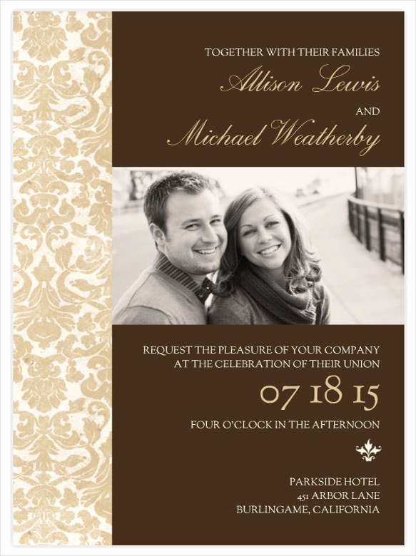 Wedding Invitations Photoshop Template Unique Wedding Invitations Shop Templates Yourweek