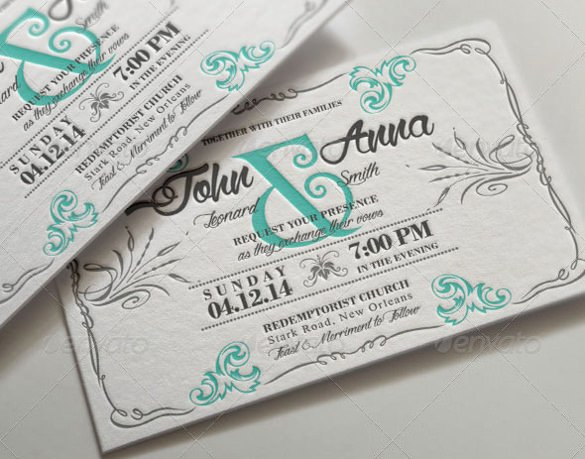 Wedding Invite Photoshop Template Awesome 34 Wedding Invitation Design Templates Psd Ai