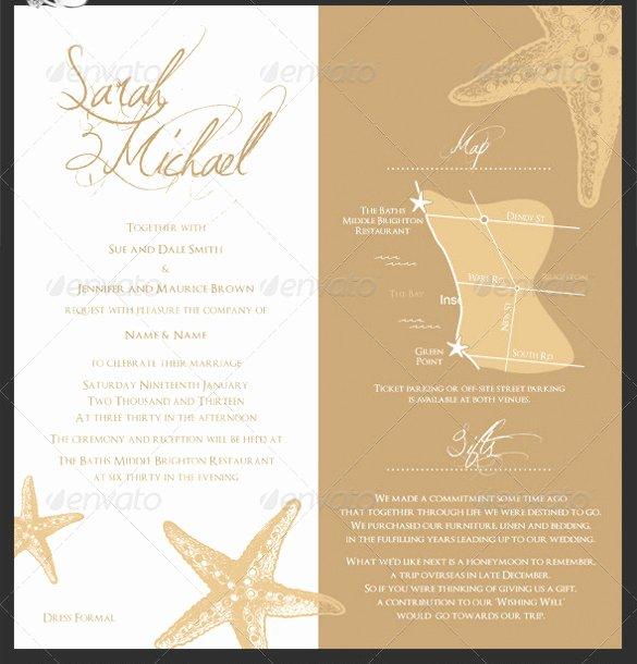 Wedding Invite Photoshop Template Beautiful 26 Beach Wedding Invitation Templates Psd Ai Word