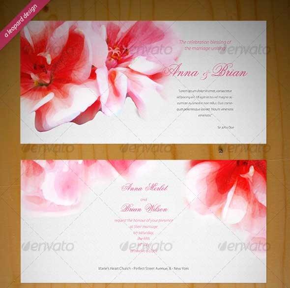 Wedding Invite Photoshop Template Beautiful Wedding Invitation Psd Template Eyerunforpob