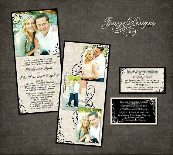 Wedding Invite Photoshop Template Beautiful Wedding Invitation Template Graphers and Shop