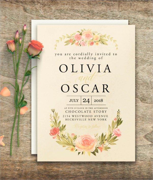 Wedding Invite Photoshop Template Elegant 30 Elegant Wedding Invitations Free Psd Vector Ai Ep