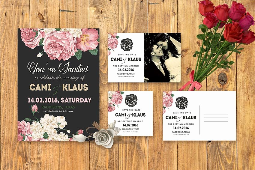 Wedding Invite Photoshop Template Elegant 50 Stylish Wedding Invitation Templates