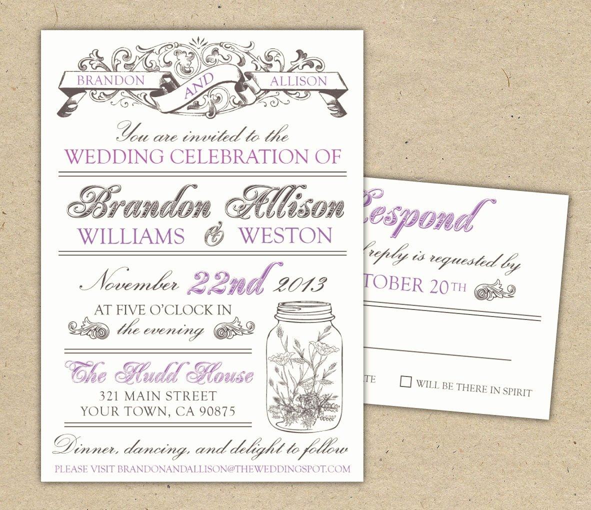 Wedding Invite Photoshop Template Elegant Marriage Invitation Template Invitation Template