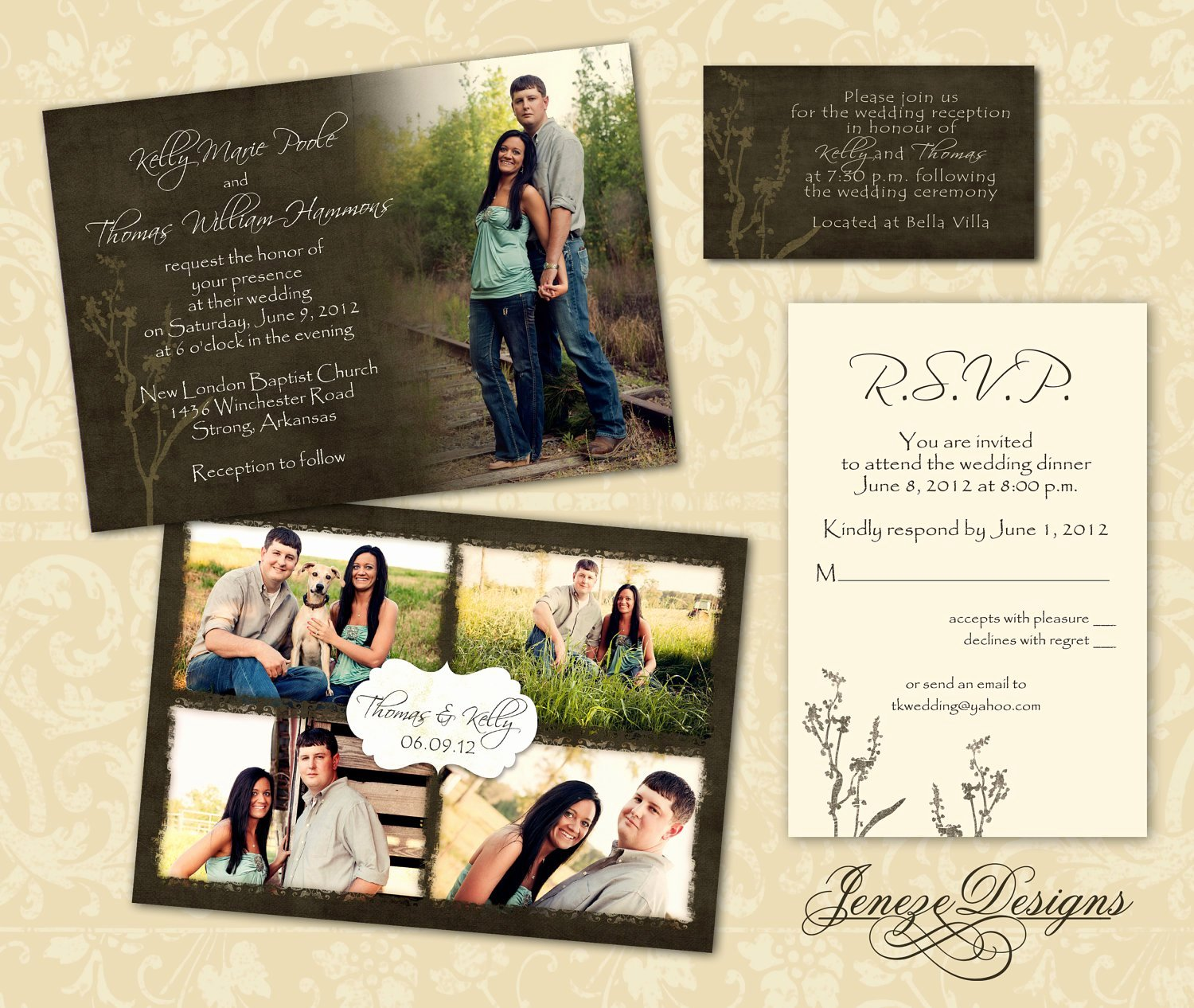 Wedding Invite Photoshop Template Elegant Wedding Invitation Template Graphers and Shop