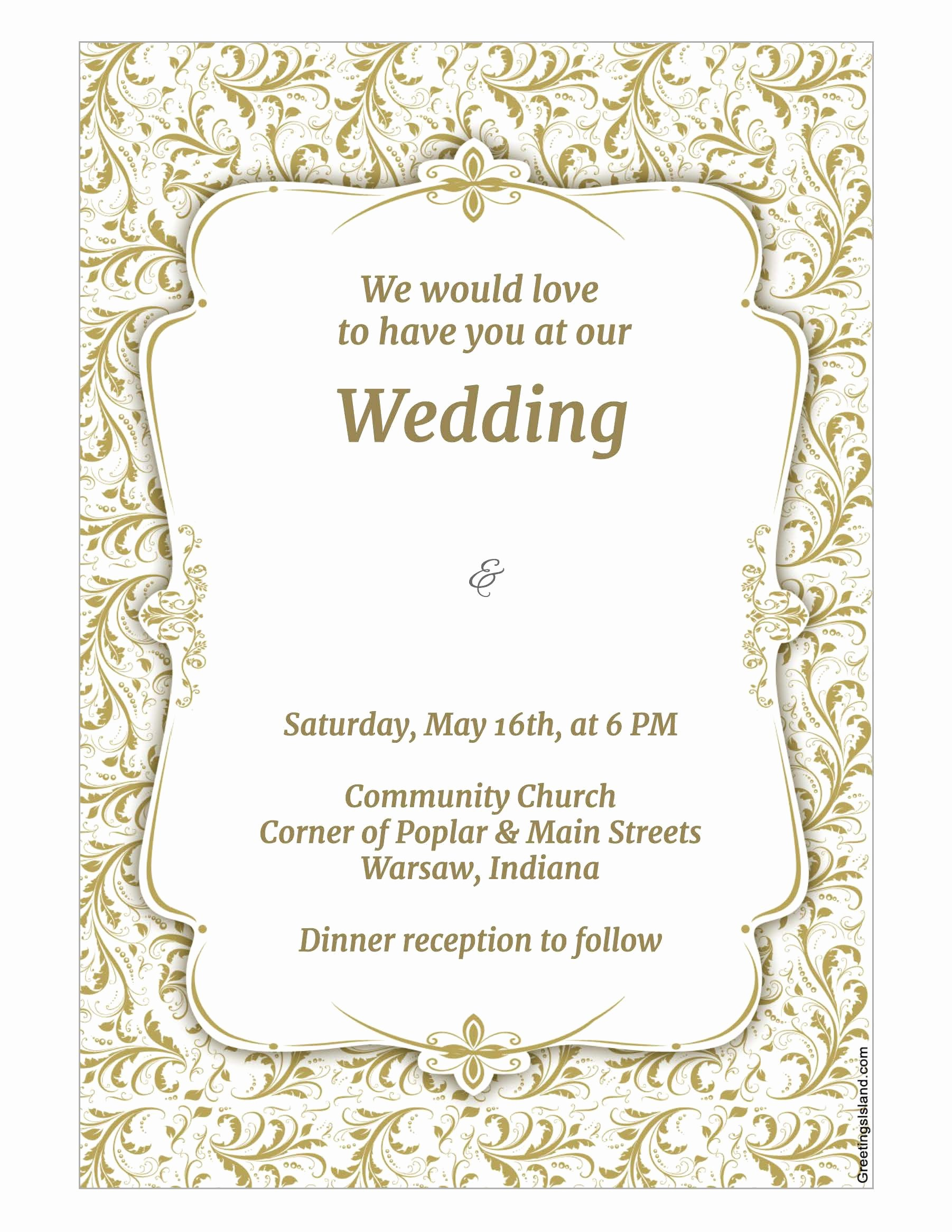 Wedding Invite Photoshop Template Elegant Wedding Invitation Template Wedding Invitation Template