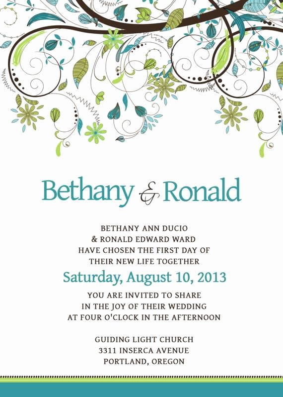 Wedding Invite Photoshop Template Fresh Wedding Invitation Template Set Psd by Scripturewallart On
