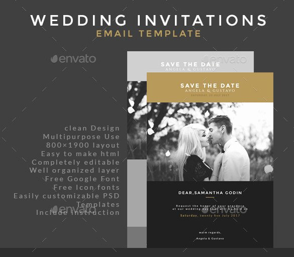 Wedding Invite Photoshop Template Inspirational 27 Email Invitation Templates Psd Vector Eps Ai