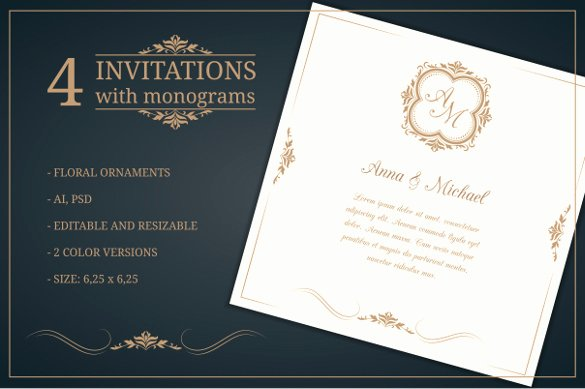 Wedding Invite Photoshop Template Lovely 45 Wedding Invitation Templates – Psd Ai Eps