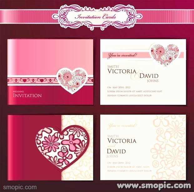 Wedding Invite Photoshop Template New Dream Angels Wedding Invitation Card Cover Background