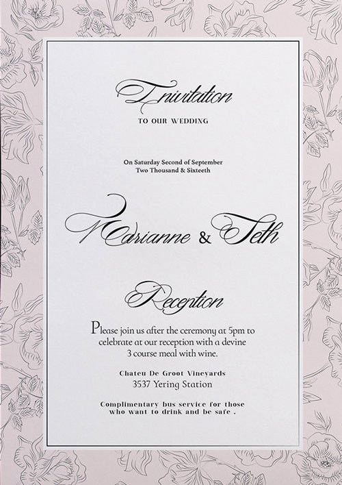 Wedding Invite Template Photoshop Elegant Free Wedding Invitation Flyer Template Download for