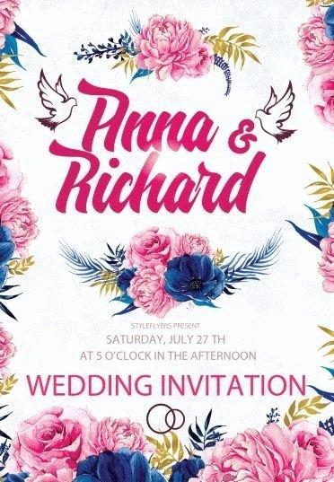 Wedding Invite Template Photoshop Fresh Wedding Invitation Psd Flyer Template 9513 Styleflyers