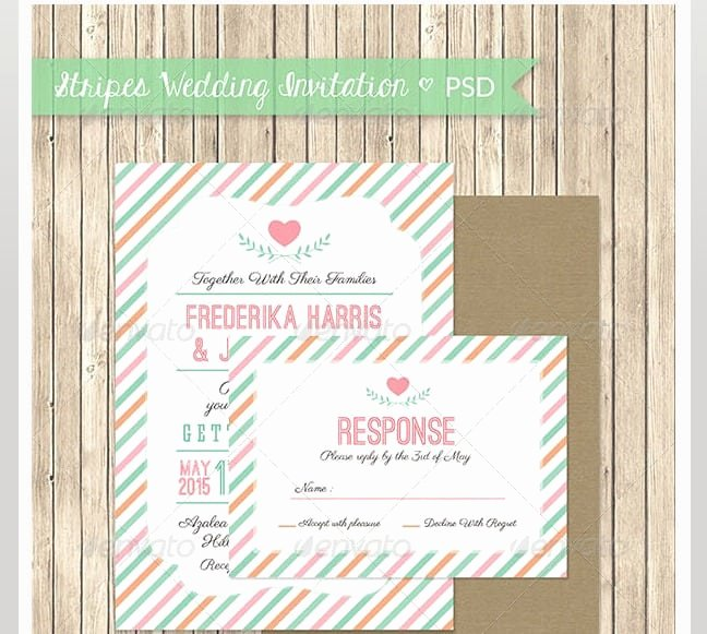 Wedding Invite Template Photoshop Inspirational Marriage Invitation Model Psd