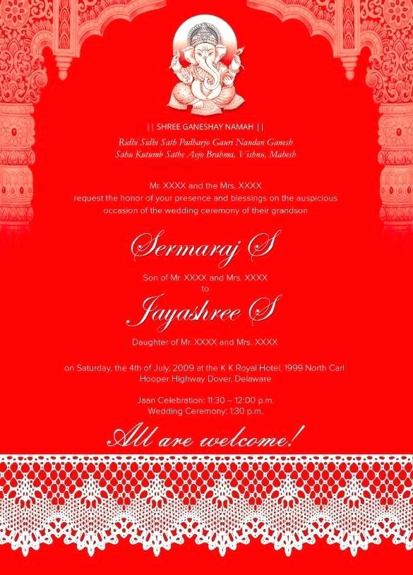 Wedding Invite Template Photoshop Unique Indian Wedding Cards Template – Helenamontanafo