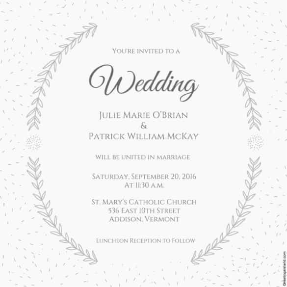Wedding Invite Template Word Beautiful 85 Wedding Invitation Templates Psd Ai