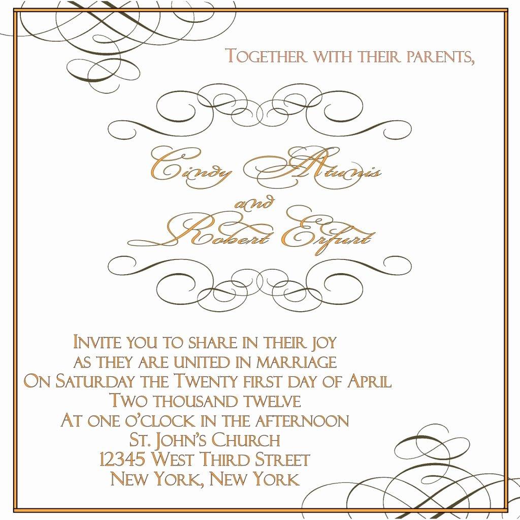 Wedding Invite Template Word Beautiful Wedding Invitation Word Templates