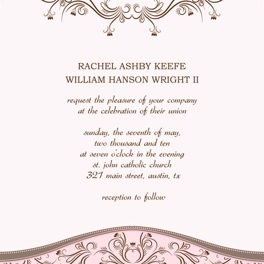 Wedding Invite Template Word Best Of Download Printable Wedding Invitation Announcement Word
