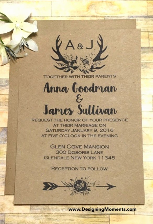 Wedding Invite Template Word Elegant 21 Country Wedding Invitation Templates Psd Word Ai
