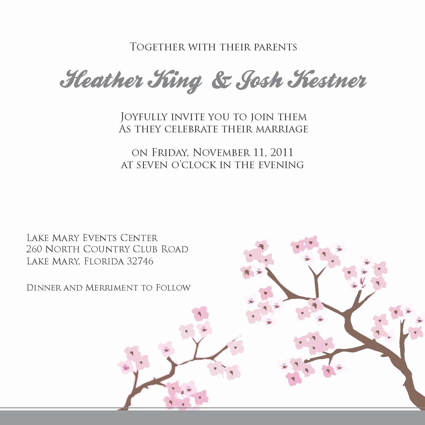 Wedding Invite Template Word Elegant Free Wedding Invitation Templates for Word