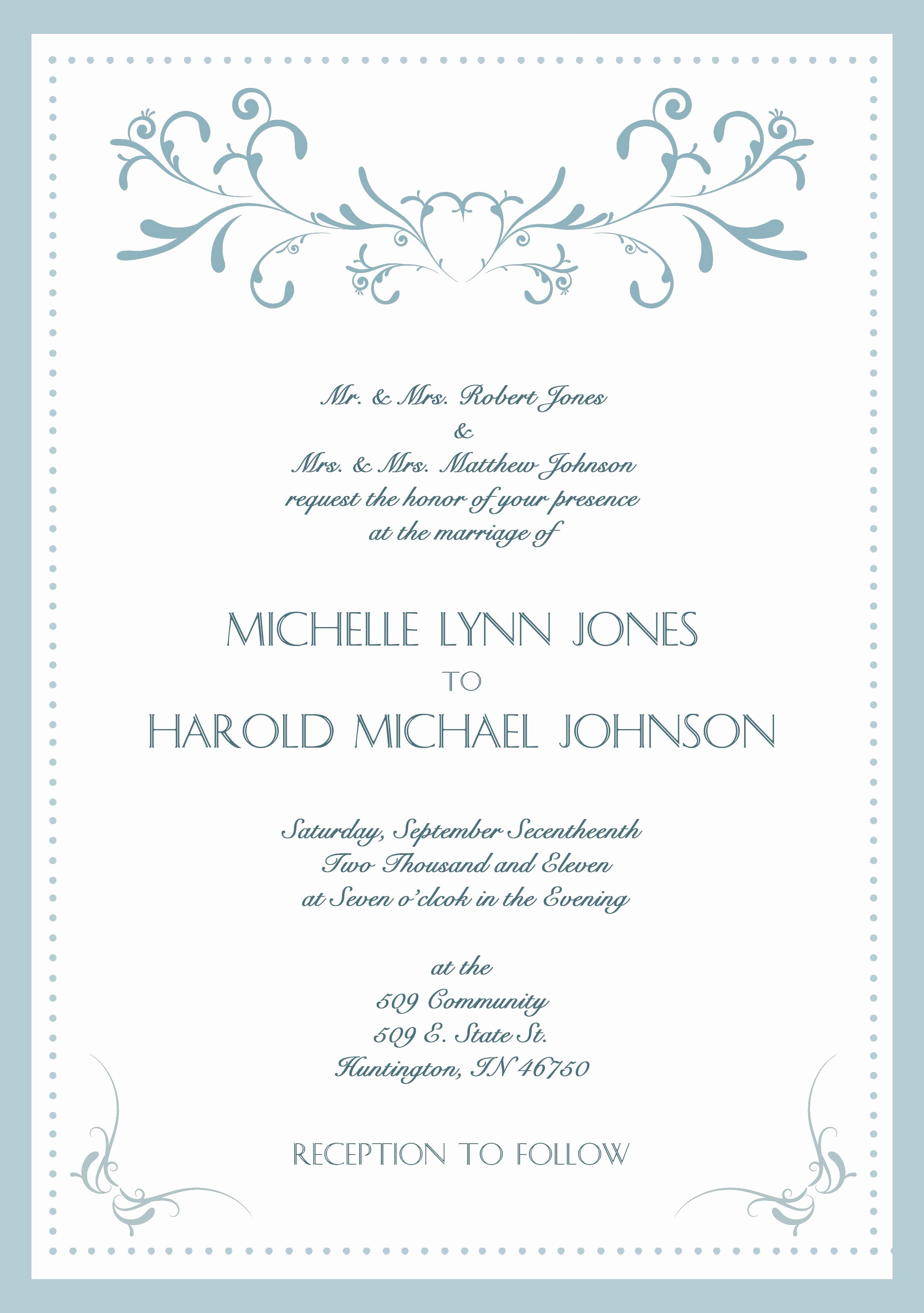 Wedding Invite Template Word Fresh Wedding Invitation Card Template Word