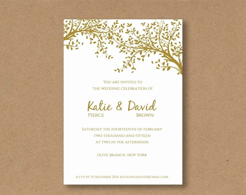 Wedding Invite Template Word Luxury Diy Editable and Printable Wedding Invitation Template