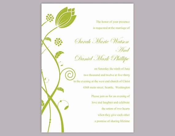 Wedding Invite Template Word Luxury Diy Wedding Invitation Template Editable Word File Instant