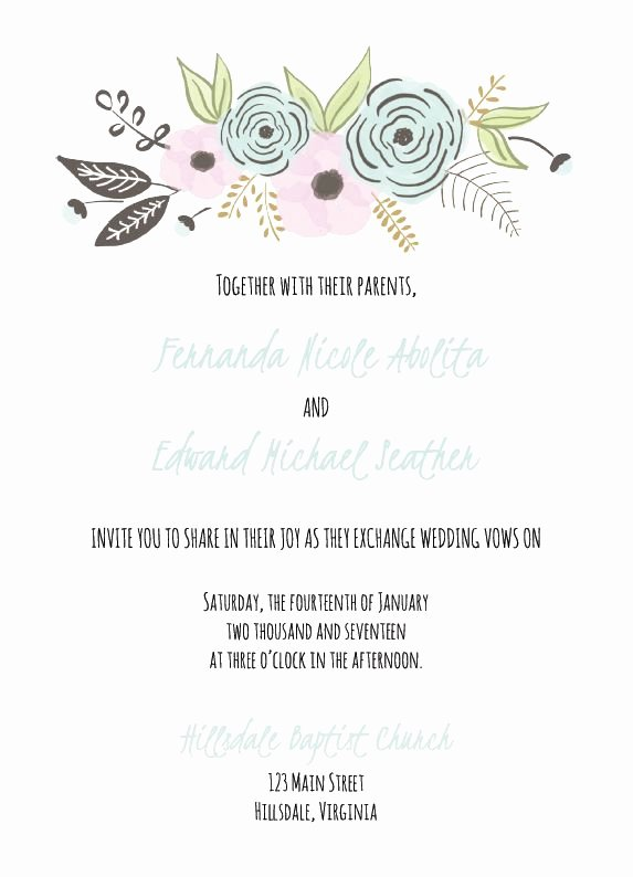 Wedding Invite Template Word New 529 Free Wedding Invitation Templates You Can Customize