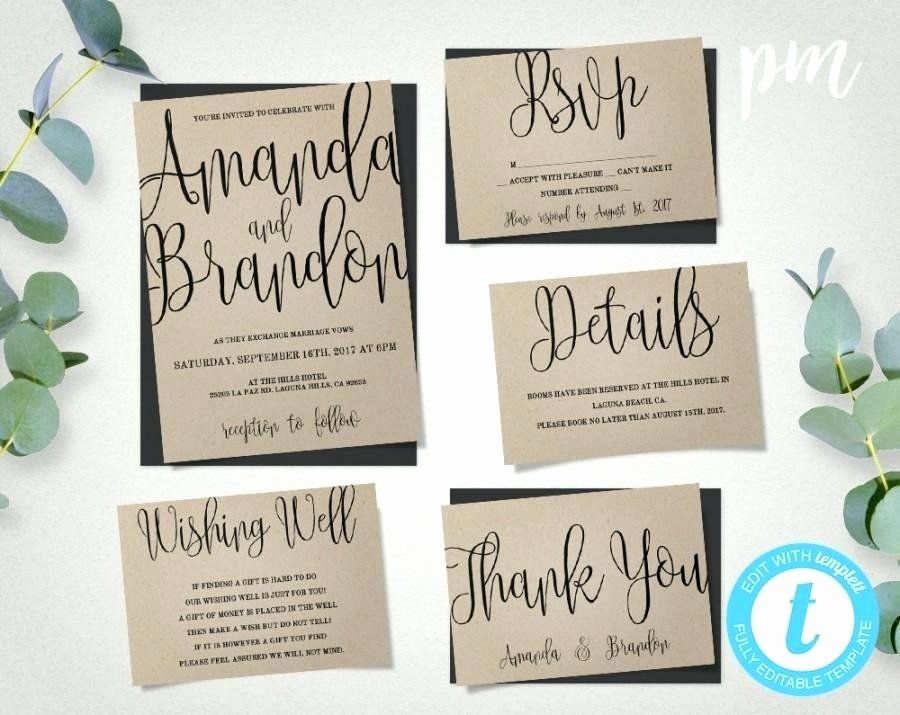Wedding Invite Template Word New Wedding Invitation Template Suite Calligraphy Script