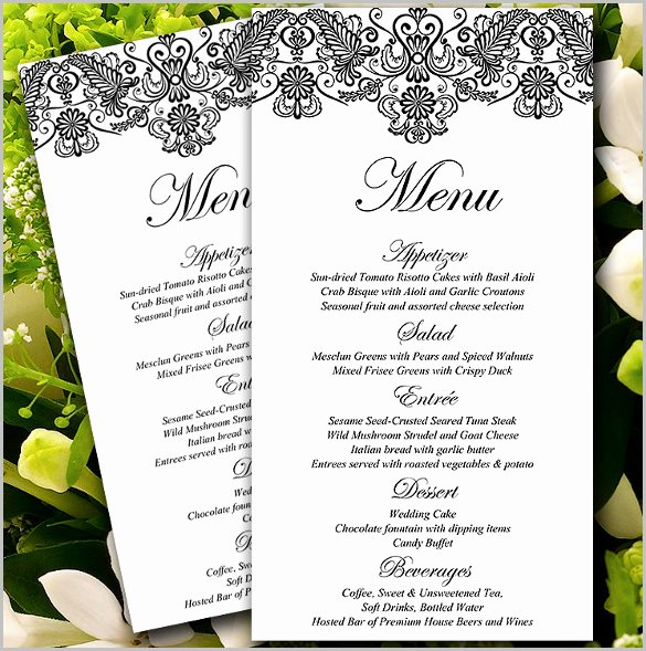 Wedding Menu Cards Template Beautiful 77 formal Invitation Templates Psd Vector Eps Ai
