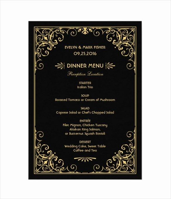 Wedding Menu Cards Template Elegant 36 Wedding Menu Templates Ai Psd Google Docs Apple