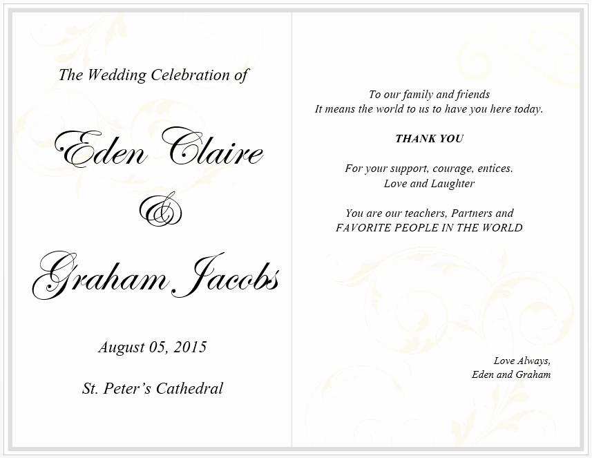 Wedding Menu Cards Template Elegant Wedding Menu Card Template Free Template Downloads