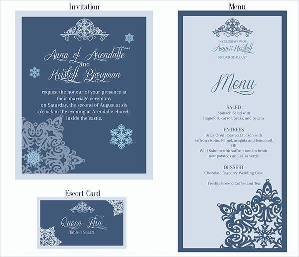 Wedding Menu Cards Template Luxury 26 Downloadable Wedding Cards