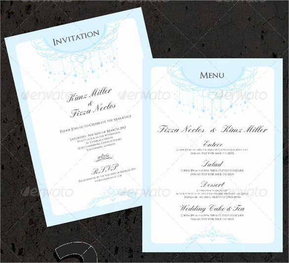 Wedding Menu Cards Template New 47 Menu Card Templates Ai Psd Docs Pages