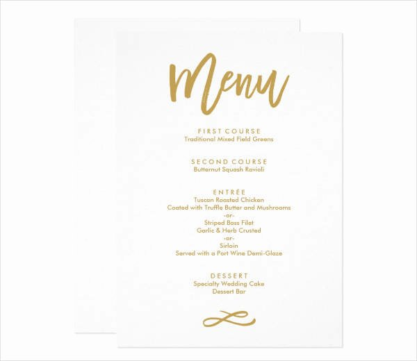 Wedding Menu Cards Template Unique 10 Wedding Menu Cards Psd Eps Vector