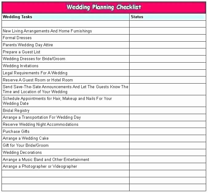 Wedding Planner Checklist Template Awesome Wedding Planner Excel Spreadsheet Free Wedding Planner