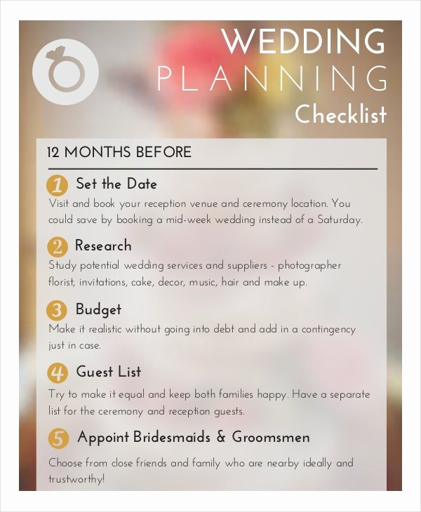 Wedding Planner Checklist Template Best Of Wedding Planner Checklist 12 Free Word Pdf Psd