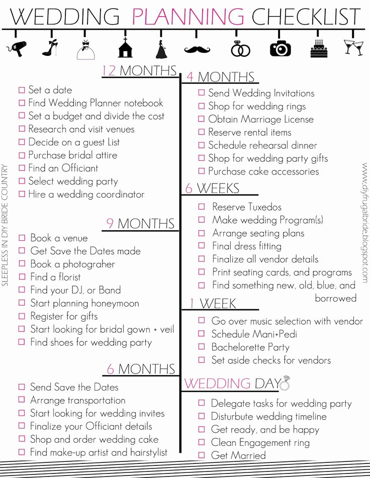 Wedding Planner Checklist Template Inspirational Best 25 Wedding Checklist Printable Ideas On Pinterest