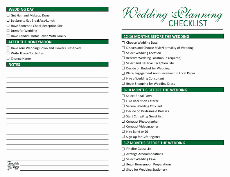 Wedding Planner Checklist Template New Wedding Planning Checklist