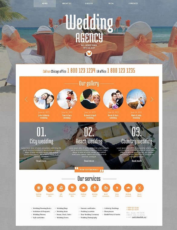 Wedding Planner Website Template Awesome 30 Wedding Website themes & Templates