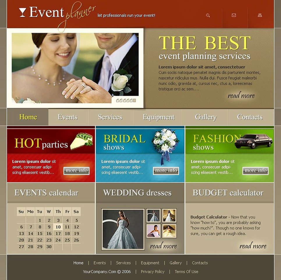 Wedding Planner Website Template Awesome event Planner Website Template