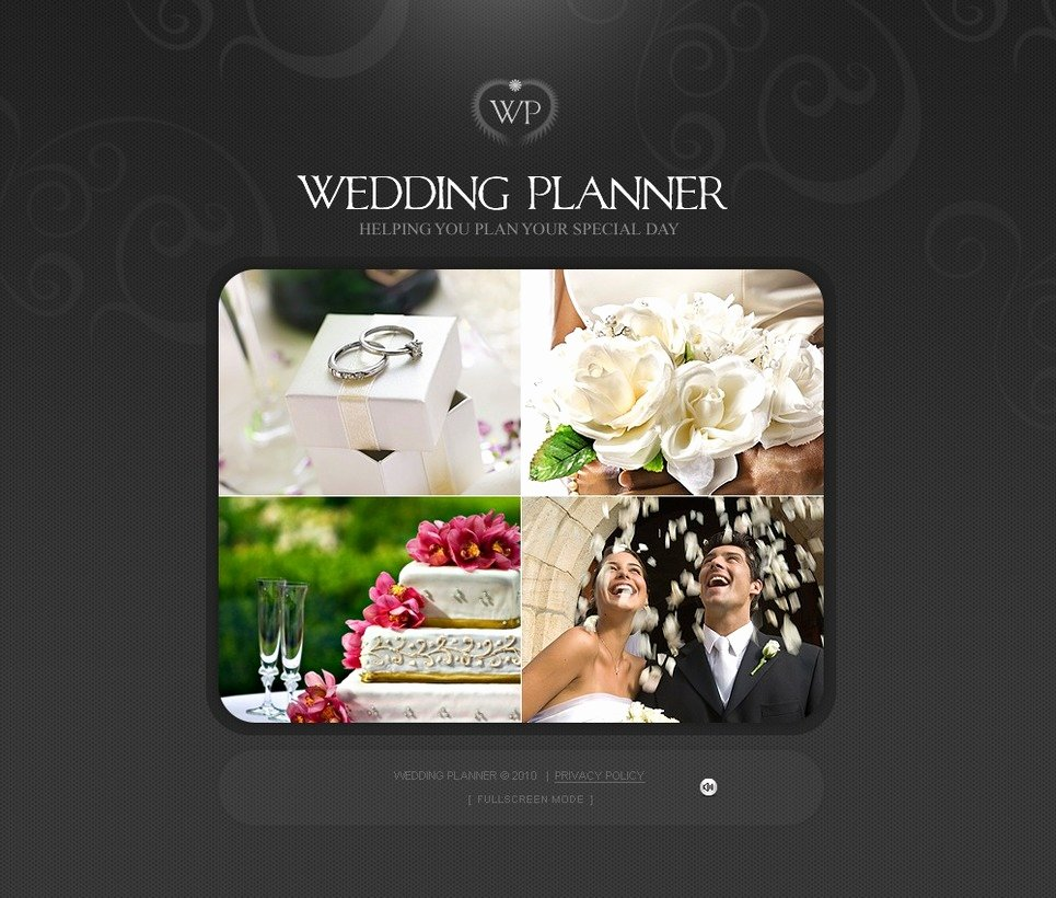 Wedding Planner Website Template Awesome Wedding Planner Flash Template