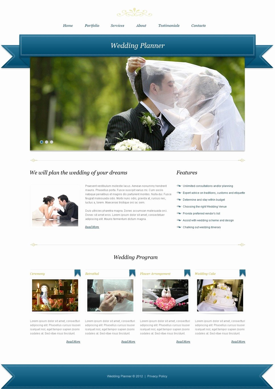 Wedding Planner Website Template Awesome Wedding Planner Website Template
