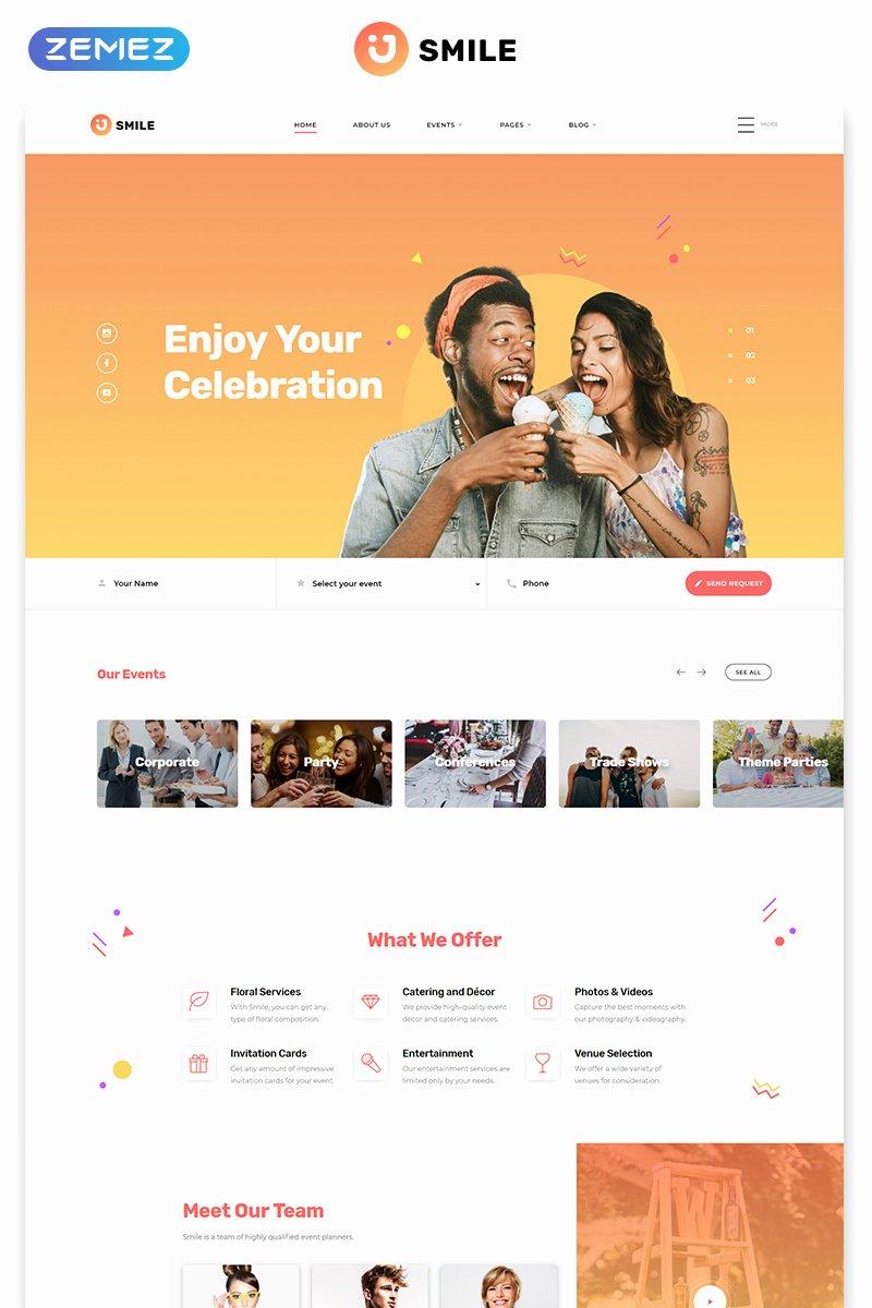 Wedding Planner Website Template Beautiful event Planner Responsive Website Template
