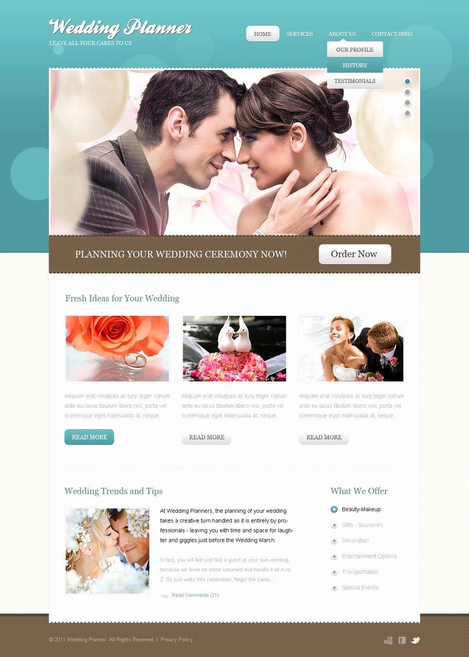 Wedding Planner Website Template Beautiful Wedding Planner Website Template